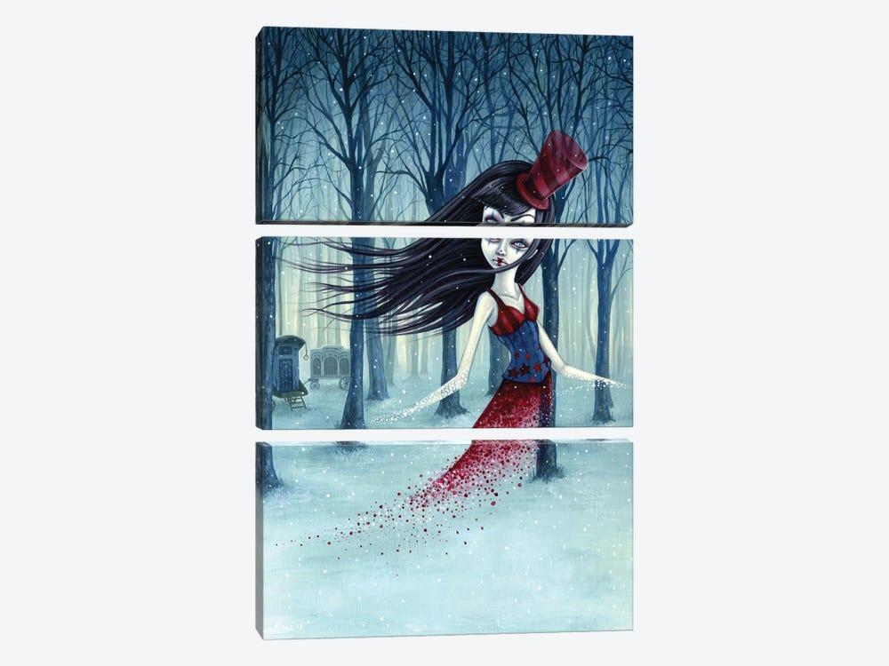 Eternal Winter Circus by Megan Majewski 3-piece Canvas Print
