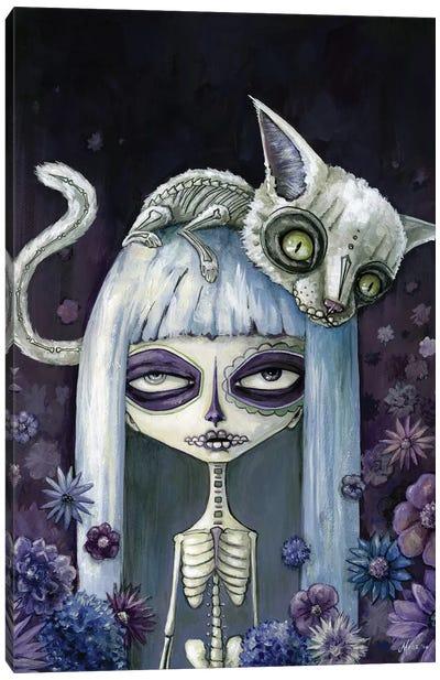 Felina De Los Muertos Canvas Art Print