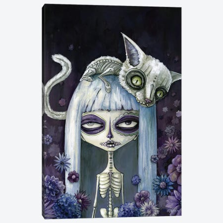 Felina De Los Muertos Canvas Print #MAJ25} by Megan Majewski Canvas Art