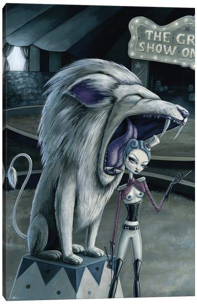 Leona The Lion Tamer Canvas Art Print