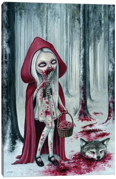 Little Dead Riding Hood Canvas Art Print