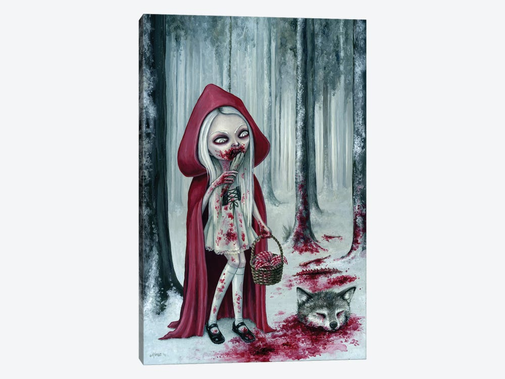 Little Dead Riding Hood by Megan Majewski 1-piece Canvas Art