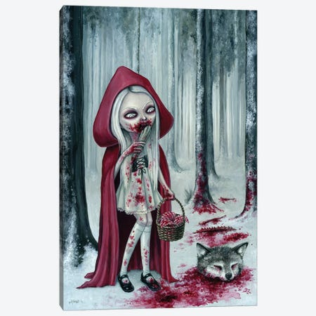 Little Dead Riding Hood Canvas Print #MAJ36} by Megan Majewski Canvas Art Print