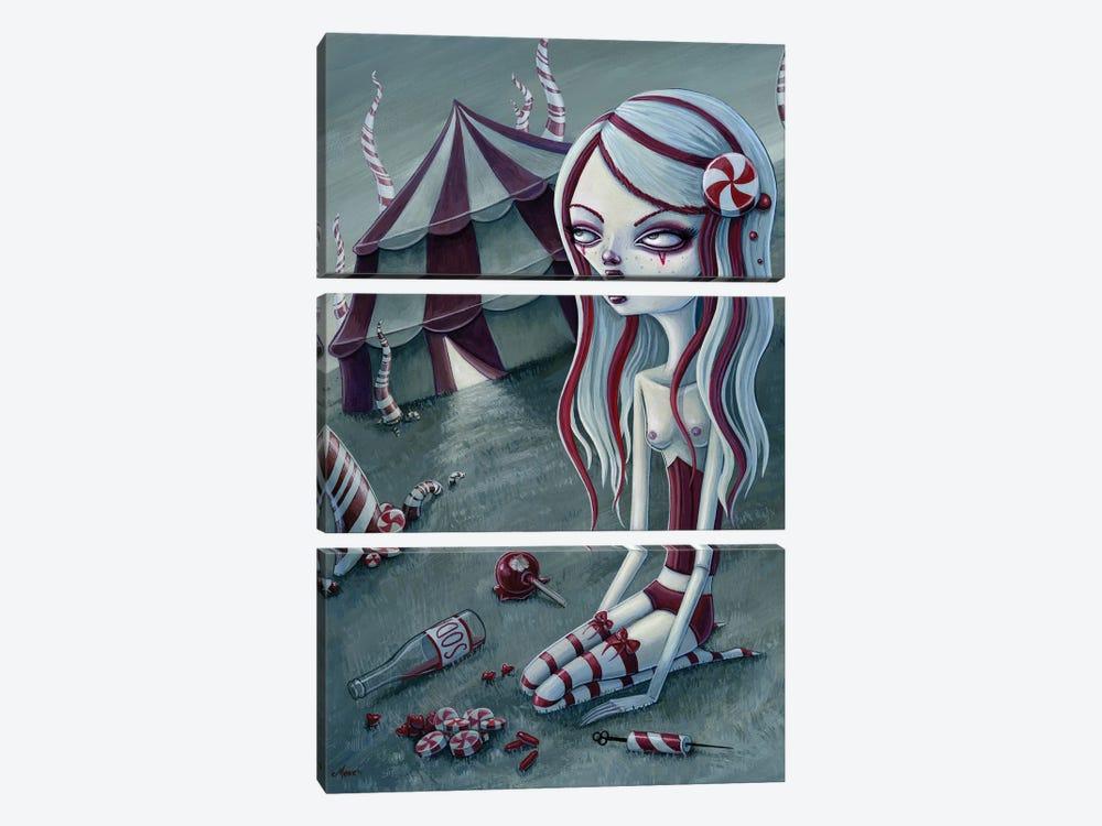 Sugar Addict by Megan Majewski 3-piece Canvas Art Print