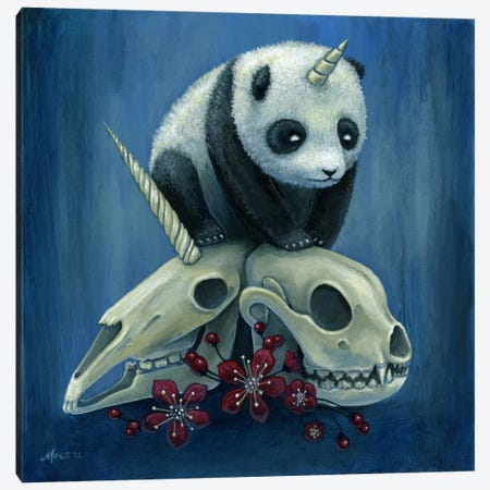 The Birth Of Pandacorn Canvas Print #MAJ60} by Megan Majewski Canvas Art Print