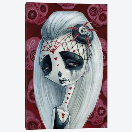 Viuda De Los Muertos Canvas Print #MAJ66} by Megan Majewski Canvas Wall Art
