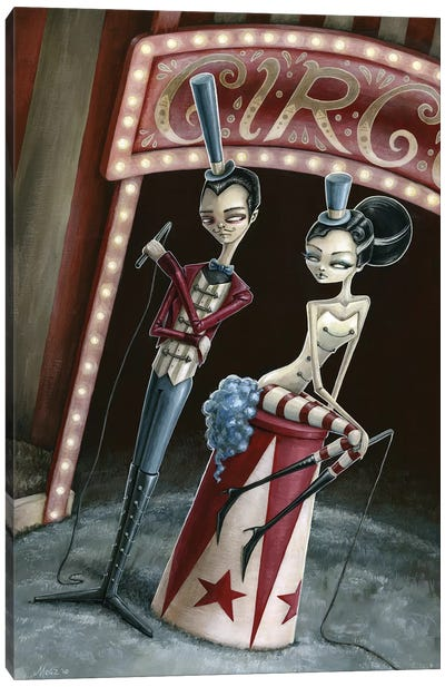 Raven And Ria Ringmaster And Ring Mistress Canvas Art Print