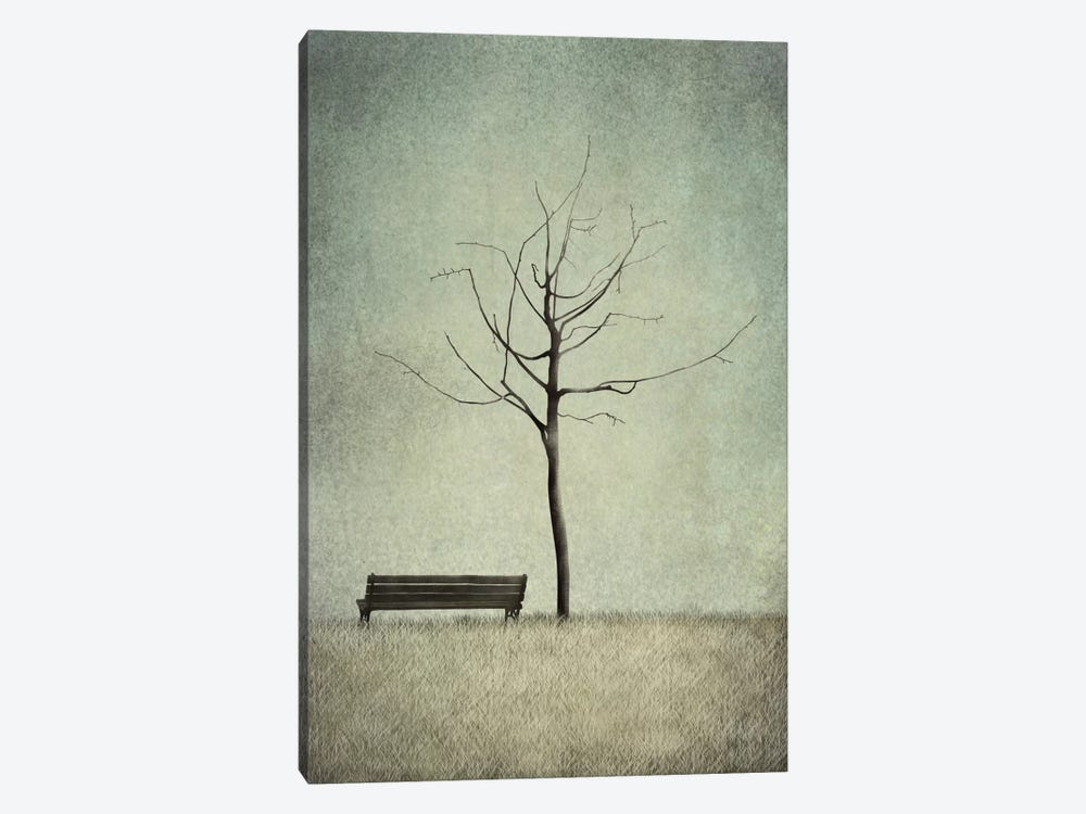 The Cherry Tree - Winter by Majali 1-piece Canvas Artwork