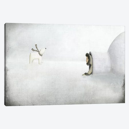 The Igloo Canvas Print #MAL11} by Majali Canvas Artwork