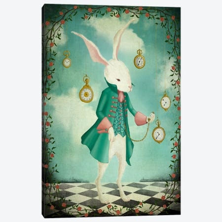 The White Rabbit Canvas Print #MAL12} by Majali Canvas Wall Art