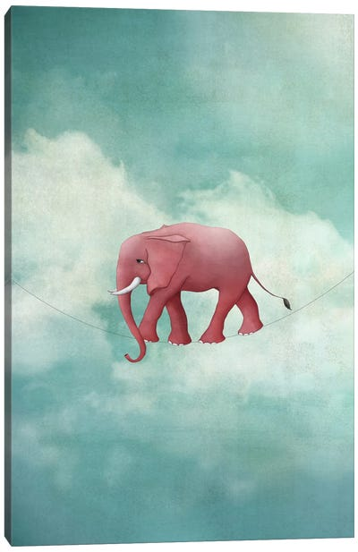 Walking On A Thin Line Canvas Art Print