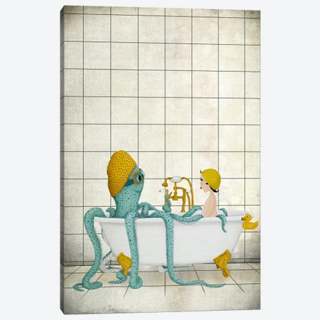 Bath Time Canvas Print #MAL1} by Majali Canvas Art Print