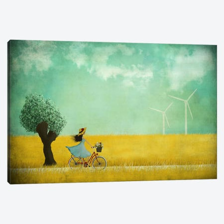 Bike Ride Canvas Print #MAL2} by Majali Canvas Print