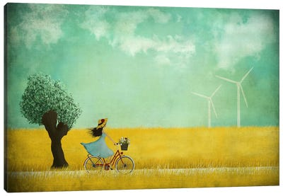 Bike Ride Canvas Art Print