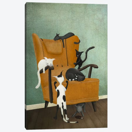 Cat Life Canvas Print #MAL3} by Majali Canvas Art Print