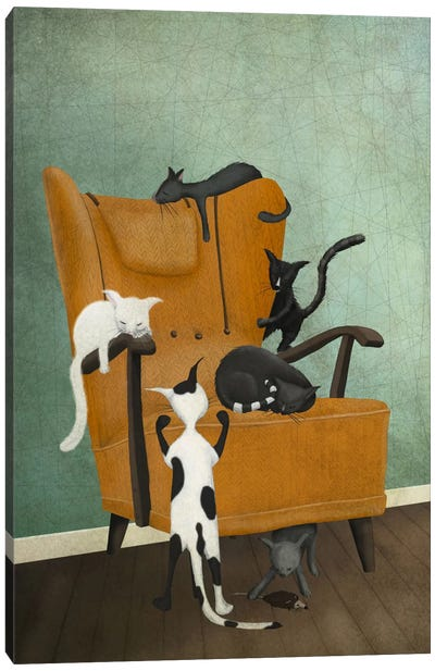 Cat Life Canvas Art Print