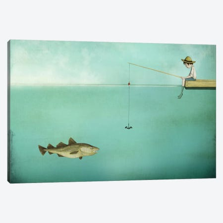 Fish Canvas Print #MAL5} by Majali Canvas Wall Art