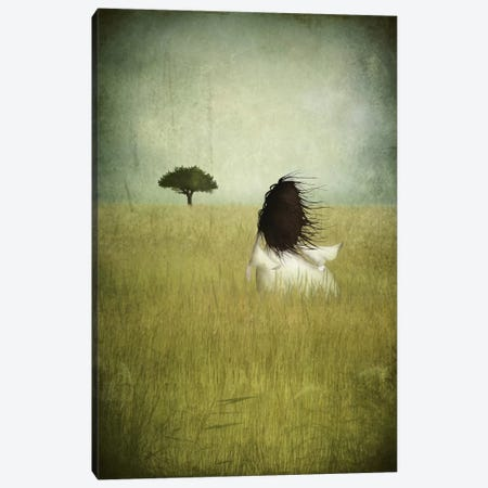 Girl On The Field Canvas Print #MAL6} by Majali Canvas Wall Art