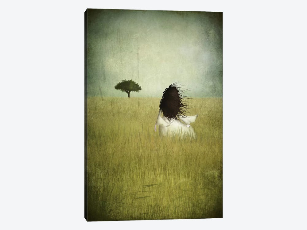 Girl On The Field by Majali 1-piece Canvas Art Print