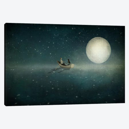 Moonlight Canvas Print #MAL8} by Majali Canvas Print