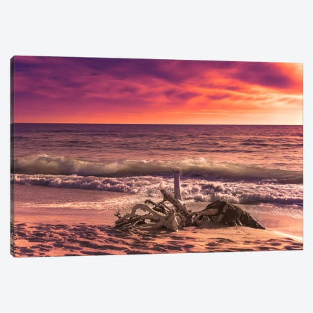 Sunset From The Beach 3-Piece Canvas #MAO10} by Marco Carmassi Canvas Art Print