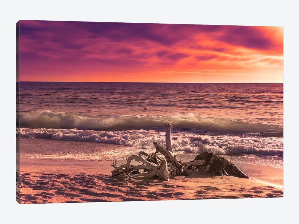 Sunset From The Beach by Marco Carmassi 1-piece Canvas Artwork