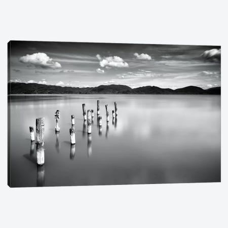 Old Pier B&W Canvas Print #MAO110} by Marco Carmassi Canvas Print