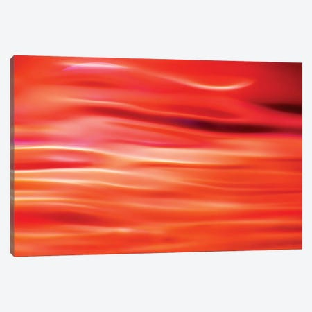 Red Abstract 3-Piece Canvas #MAO111} by Marco Carmassi Canvas Print
