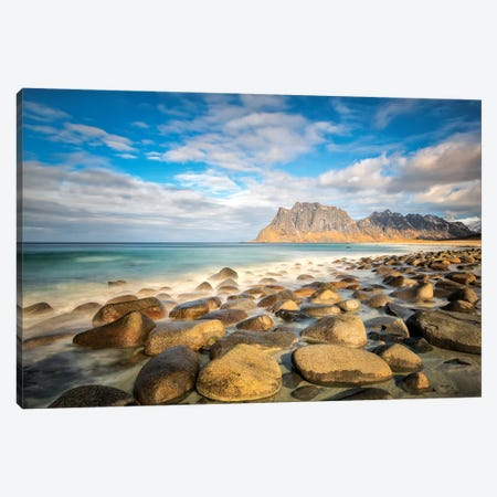 Utakleiv Beach II Canvas Print #MAO117} by Marco Carmassi Canvas Art