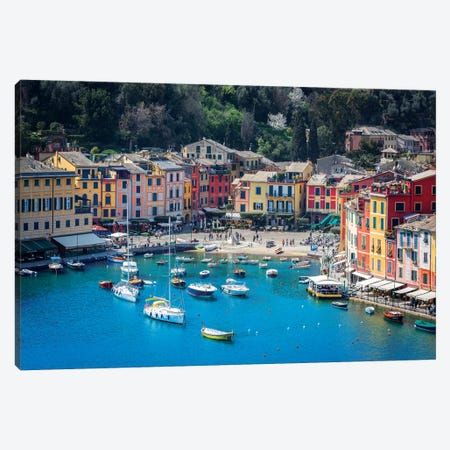 Portofino Canvas Print #MAO118} by Marco Carmassi Canvas Print