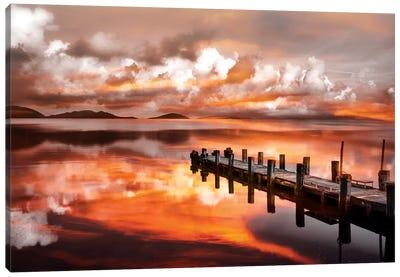 Sunset Pier Canvas Art Print