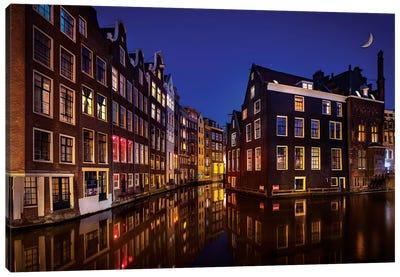 Amsterdam Night Canvas Art Print