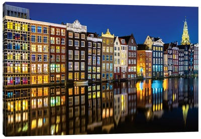 Amsterdam Reflections Canvas Art Print