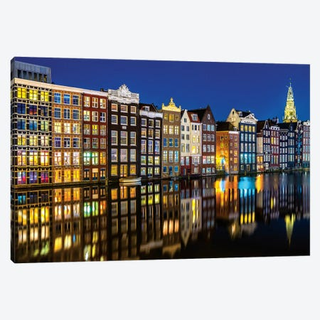 Amsterdam Reflections Canvas Print #MAO128} by Marco Carmassi Canvas Artwork