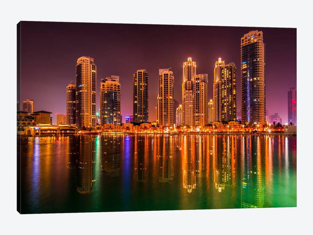 Dubai By Night by Marco Carmassi 1-piece Canvas Artwork