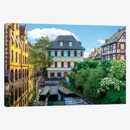 Colmar Boats Canvas Print #MAO138} by Marco Carmassi Canvas Print