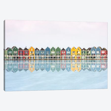 Coloured Houses Canvas Print #MAO140} by Marco Carmassi Canvas Wall Art