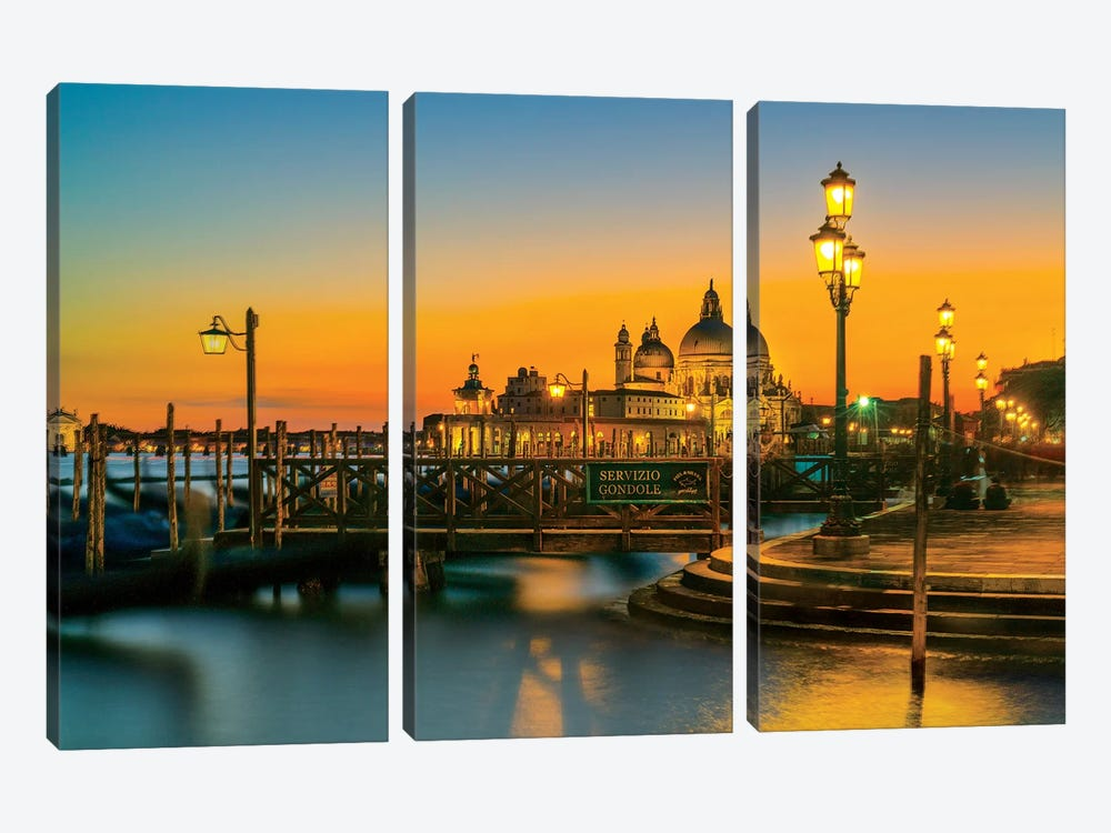 Dreaming Venice by Marco Carmassi 3-piece Canvas Art