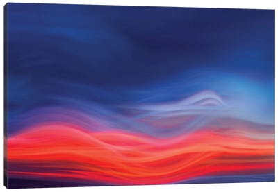 Flame Red Canvas Art Print