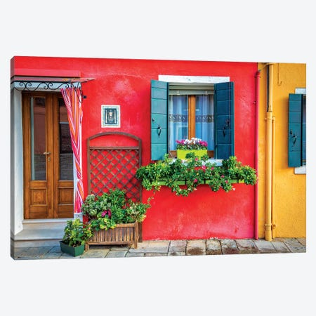 Flowers In Burano Canvas Print #MAO145} by Marco Carmassi Art Print