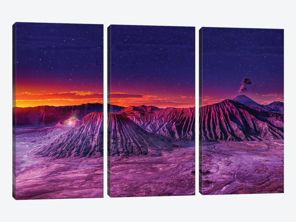 Mt Bromo by Marco Carmassi 3-piece Canvas Art