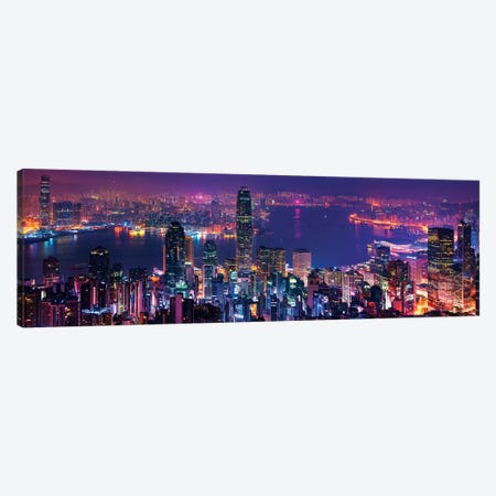 Hong Kong Special View Canvas Print #MAO155} by Marco Carmassi Canvas Artwork