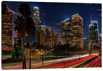 LA Down Town Canvas Art Print