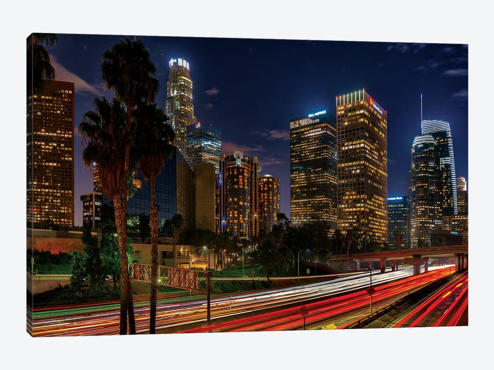 LA Down Town by Marco Carmassi 1-piece Canvas Print