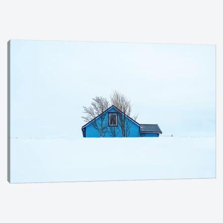 Little Blue House Canvas Print #MAO160} by Marco Carmassi Canvas Art