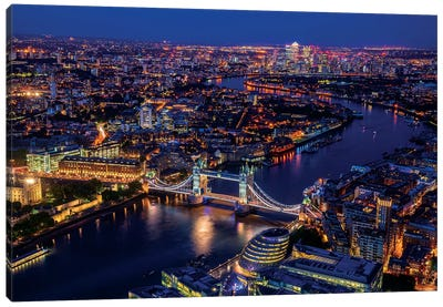 London From Shard Canvas Art Print