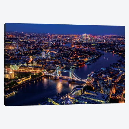 London From Shard Canvas Print #MAO162} by Marco Carmassi Canvas Art
