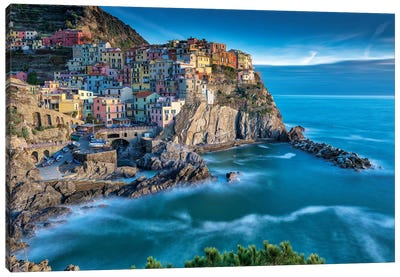 Manarola Italy Memories Canvas Art Print