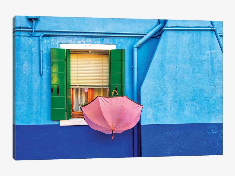 Pink Umbrella In Venice by Marco Carmassi 1-piece Canvas Print