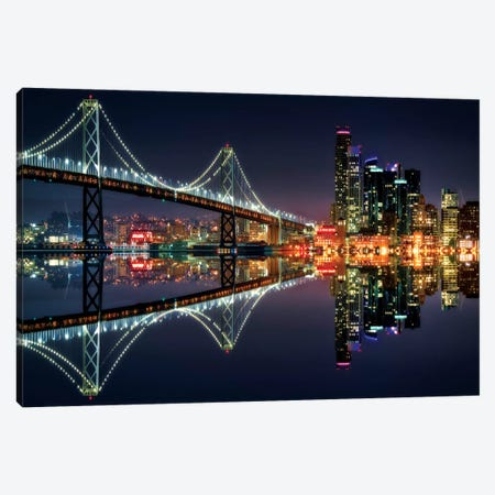 San Francisco Blue Hour Canvas Print #MAO179} by Marco Carmassi Canvas Art Print